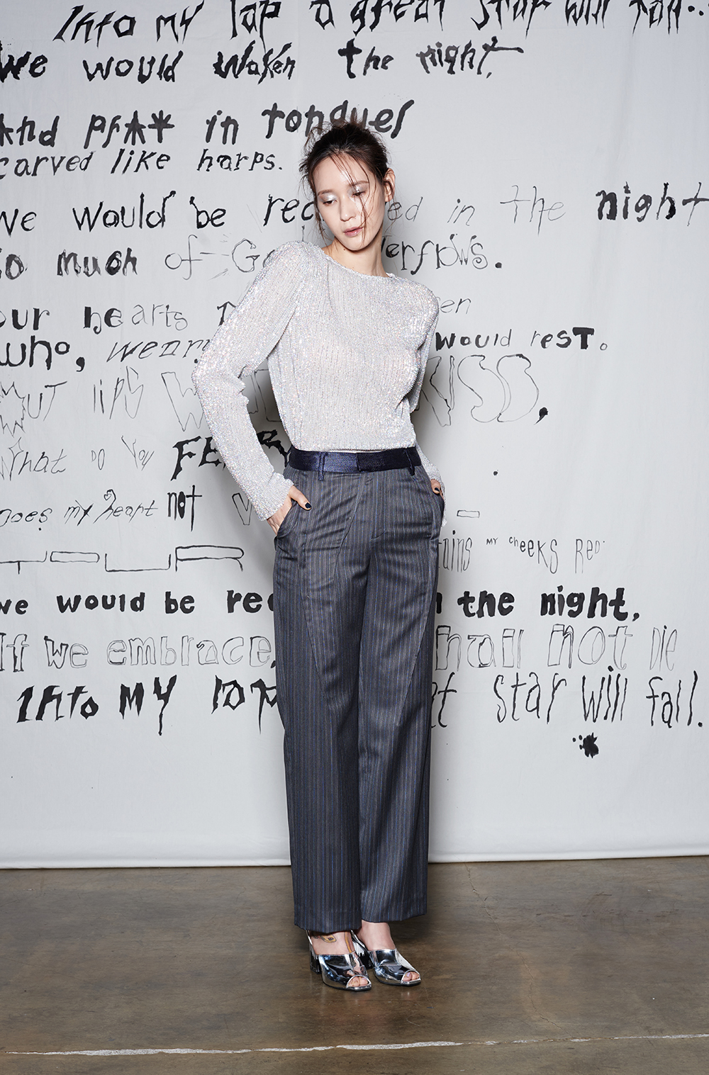 Androgynous Pants(GREY STRIPE)