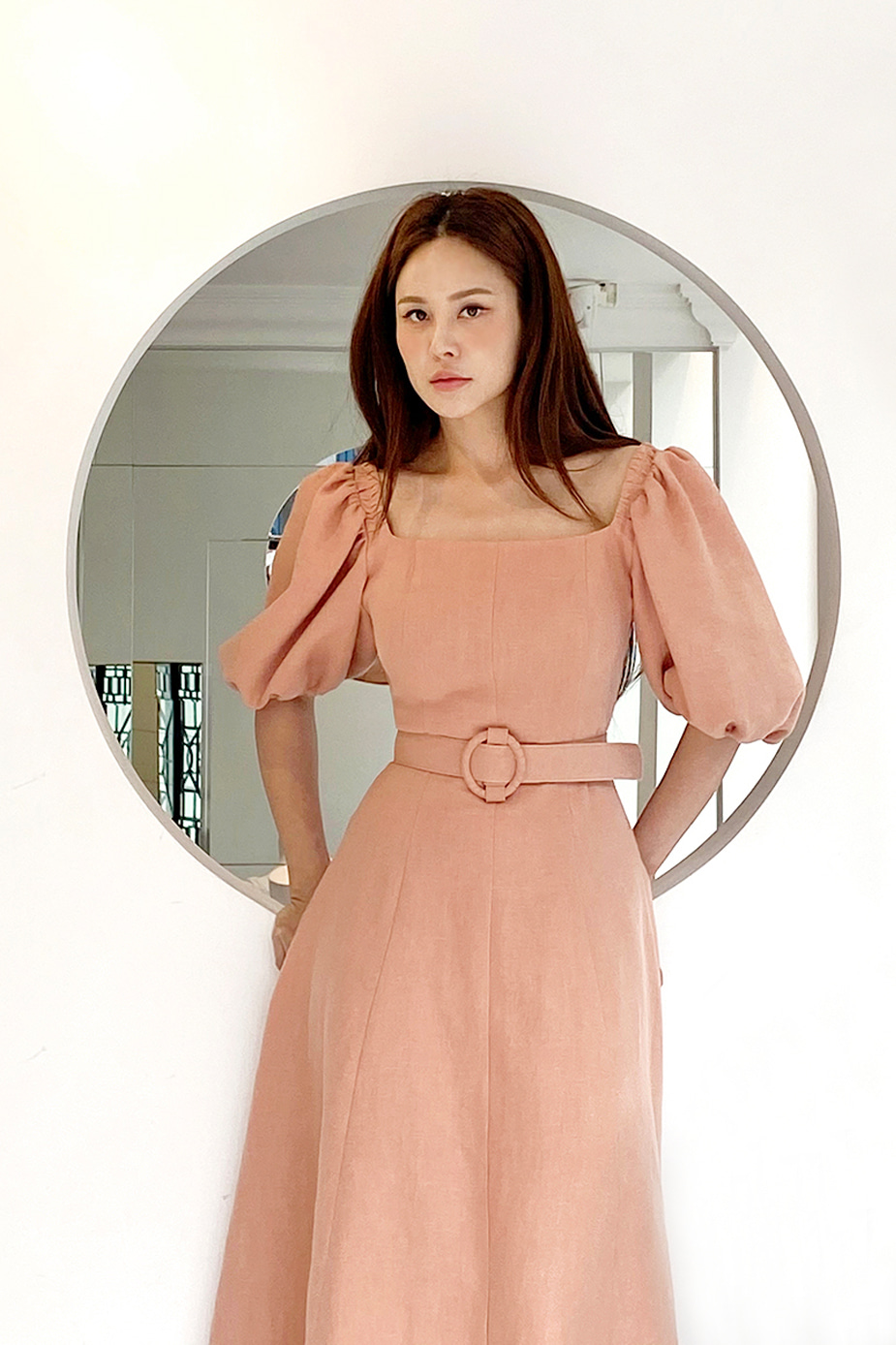 Greta Dress (Salmon)