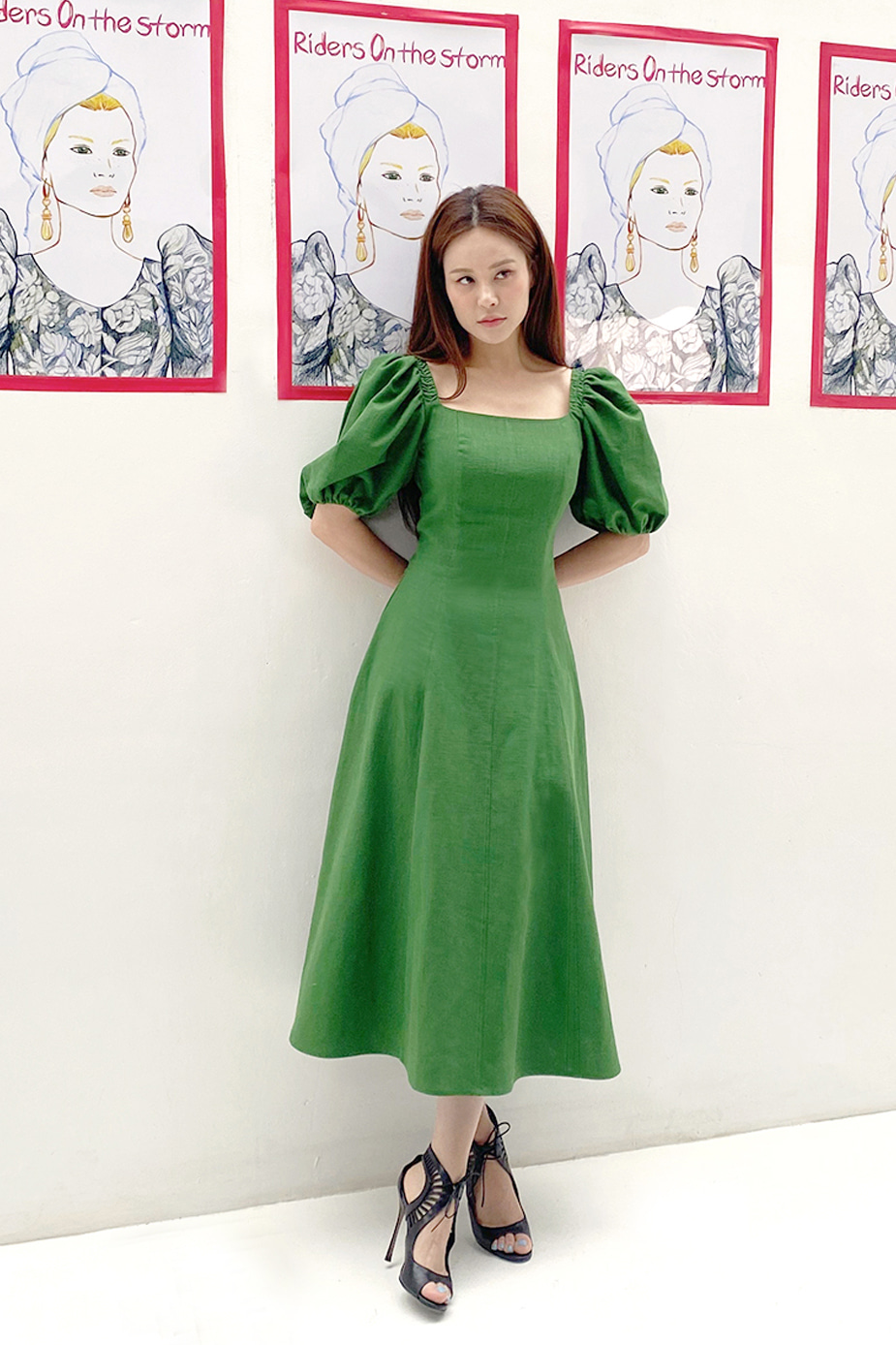 Greta Dress (Green)